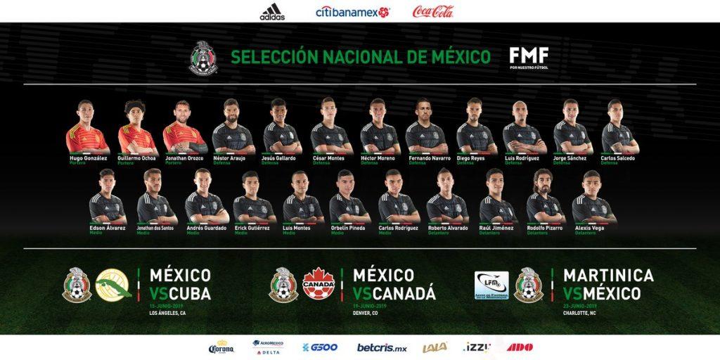 Selección Mexicana Selección Nacional Copa Oro Tata Maratino Concacaf