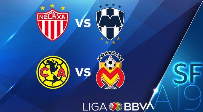 América Tigres semifinales Apertura 2019 Liga MX Santos Monterrey